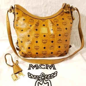 Mcm authentic large crossbody bag